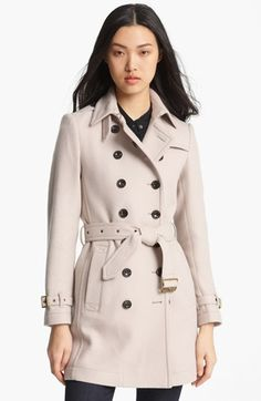 Burberry Brit 'Crombrook' Wool Blend Trench Coat available at #Nordstrom on sale 12 or 14