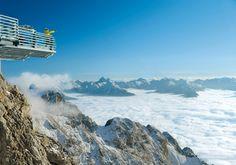 """""""Skywalk"""" at the Dachstein glacier in Salzburg, Austria"""