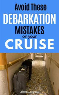 Cruise disembarkation day is absolutely the worst day of a cruise vacation! However there are ways to make it as stress-free as possible, while still making sure that you don't forget any of the important things to do before the last day of your cruise holiday. #cruisedisembarkation #cruisetips #cruise #cruisedebarkation #cruising #cruisefirsttime