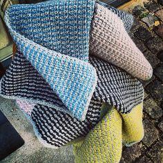 #Crochet Striped Blanket - your versions: @mydailyjunk - Tusindfryd Cph