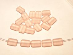 DESTASH  20 Czech Rose Quartz Pink Frosted by MeadowbrookDesigns