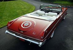 imperial cars in red Chrysler Cars, Chrysler Usa, Peugeot, Vintage Cars, Antique Cars, Desoto Cars, Convertible, Chrysler Imperial, Automotive Design
