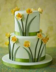 Daffodil Cake by Akram Mahootchi