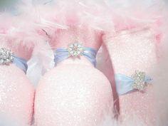 Blue/white of course Pink Wedding Centerpieces, Bridal Shower Decorations, Wedding Reception Decorations, Pink Silver Weddings, Pink Green Wedding, Frozen Baby Shower, Chic Wedding, Dream Wedding, Blush Bridal Showers