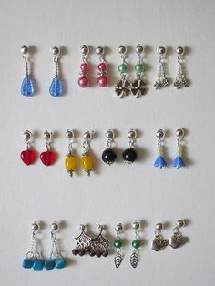 Doll Jewelry 12 Pair Earrings Tonner Tyler Ellowyne Antoinette N BJD Rings | eBay