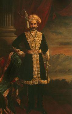 HH Sri Chamarajendra Wadiyar X (oil on canvas), 1885, Collection: Srikantha Datta Narasimharaja Wadiyar, The Palace, Mysore. Painted by Raja Ravi Varma