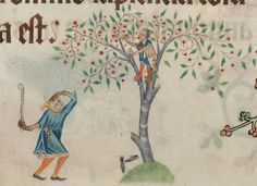 Detail from The Luttrell Psalter, British Library Add MS 42130 (medieval manuscript,1325-1340), f196v