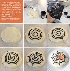 Halloween recipe: spooky spiderweb sugar cookies - itsalwaysautumn - it's always autumn