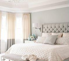 La chambre à coucher- fraîcheur en gris, oui c'est possible!