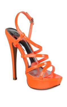open toe strappy neon pumps $30.50
