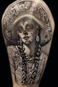 Mexicana sugar skull Tattoo