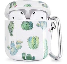 Airpods Case - CAGOS 3 in 1 TPU Hard Airpods Accessories Protective Case Cover Portable & Shockproof Cover Case Portable for Airpods 2 & 1 Charging Case (Nopal) New Iphone, Iphone Cases, Cute Ipod Cases, Apple Airpods 2, Accessoires Iphone, Earphone Case, Airpod Case, Coque Iphone, Iphone Accessories