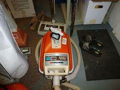 Vintage Eureka 1266 Orange Canister Vacuum Cleaner with Roto Matic Powerhead