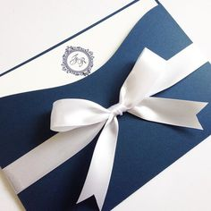 Convite de Casamento - Clássico Marinho