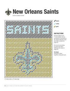 New Orleans saints tbc Plastic Canvas Ornaments, Plastic Canvas Tissue Boxes, Plastic Canvas Crafts, Plastic Canvas Patterns, Football Canvas, Football Crafts, Saints Football, Nfl Football, Sport Craft