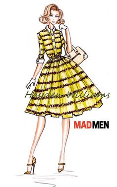 neat idea: fashion drawings of mad men characters. I could totally see myself doing this.