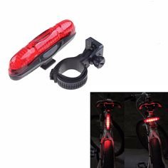 2016 New Bicycle 4 Modes Super Bright LED Light Bike Front / Rear Light Outdoor Cycling Warning Lamp Night Safety Taillight