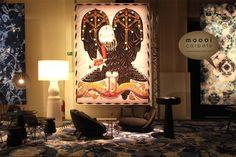 A tapeçaria Vulture, de Klaus Haapaniemi, para a Moooi Carpets