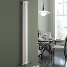 Traditional Cast Iron Style Vertical Radiator White 2 Column 1800 x 196 mm | eBay