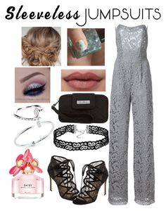 """""""Silver beauty"""" by snowflakeunique ❤ liked on Polyvore featuring ADAM, Mateo, Roberto Marroni, Pour La Victoire, Vera Bradley, Marc Jacobs and sleevelessjumpsuits"""