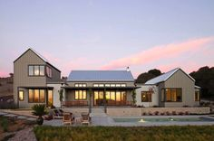 Sustainably designed modern farmhouse near the California coast