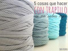 Cómo hacer un bolsazo de Trapillo Crochet Fabric, Crochet Food, Fabric Yarn, Crochet Bear, Love Crochet, Diy Crochet, Crochet Patterns, Crochet Birds, Crochet Animals