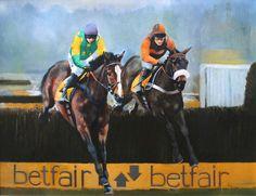 KAUTO STAR BETFAIR CHASE PAINTING - Original Horse Racing Painting by David…
