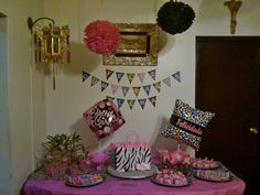 Animal print birthday.