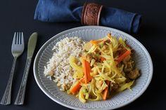Seitan yassa (variatie op een Gambiaans recept)