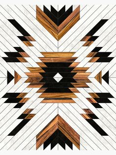 Urban Tribal Pattern 5 - Aztec - Concrete and Wood Canvas Prints by Zoltan Ratko