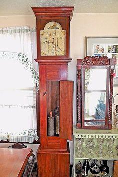d6c71d1cab6 19th C. Seth Thomas Grandfather Clock Wood Movement Tall Case