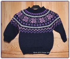 genser med rundfelling | Hjerte GO`H Design: Jenny - genser med rundt bærestykke