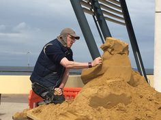 Martin at work sculpting FRED