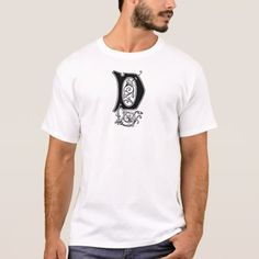 Elegant Decorative Monogram D T-Shirt