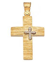 ΚΤΑ1090 -Χρυσός βαπτιστικός σταυρός 14Κ Symbols, Art, Art Background, Icons, Kunst, Glyphs, Art Education