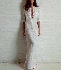 Boho Maxi Beach dress linen
