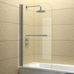 Shower Bath Screen with Towel Rail - 800mm - Basic Range