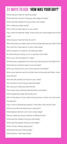 31 Questions That Really Get Your Kids To Tell You About Their Day