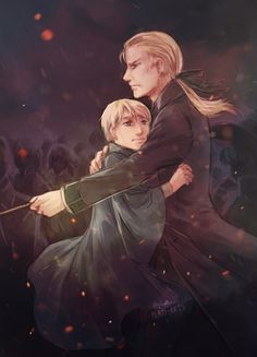 Protective dad Draco and his beloved son Scorpius.♡ by Raven wings