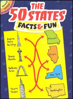 The 50 States: Facts & Fun (Dover Little Activity Books) by Viki Woodworth 0486475247 9780486475240 Social Studies Activities, Travel Activities, Learning Activities, Road Trip With Kids, Dover Publications, 50 States, United States, Little Books, Paperback Books