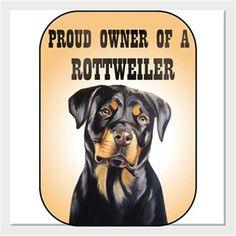 Köpekli - Proud Owner of a Rottweiler Kendin Tasarla - Kanvas Tablo 25x25cm Kare