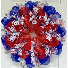 Fourth Of July Crafts For Kids, Fourth Of July Decor, 4th Of July Wreath, July 4th, Patriotic Wreath, Patriotic Decorations, Flag Wreath, Patriotic Crafts, Holiday Decorations