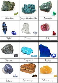 Voici un document gratuit de 4 pages sur les pierres précieuse et semi-précieuses   Pour les pierres semi-précieuses, j'ai choisi celles fai... Science Montessori, Montessori Classroom, Crystal Healing Stones, Stones And Crystals, Crystal Identification, Learn To Meditate, Free Preschool, Crystal Meanings, Rocks And Minerals