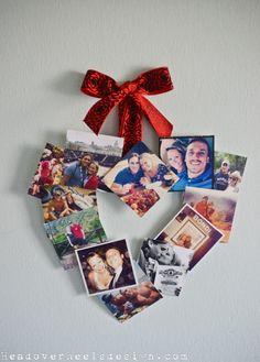 Valentine's Instagram Photo Heart Wreath
