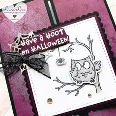 Stampin' Up Have A Hoot Halloween Card | Stamping for Good Halloween Cards, Halloween Themes, Little Owl, Greeting Cards Handmade, Etsy Store, You And I, Stampin Up, My Design, Projects