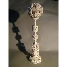 Boule De Canton En Ivoire. Diamètre 10cm. Ch[...] Baroque, Canton, Ivoire, Crochet Necklace, Puzzle, Asia, Jewelry, Crystal, Stones