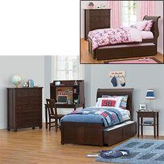 Best Cafe Kid Parker 4 Piece Twin W Trundle Boys Bedroom Set 640 x 480