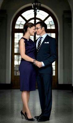 Princess Victoria and Prince Daniel of Sweden.