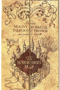 Marauders Map - USED THIS IDEA!