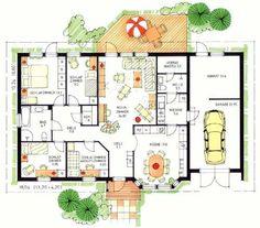 Schwedenhaus bungalow grundriss  ▷ Bungalow MARE 139 mit Garage | Zukünftige Projekte | Pinterest ...